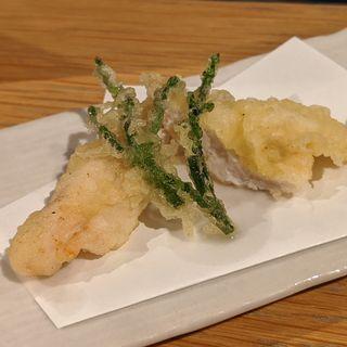 黒岩土鶏の天ぷら