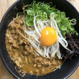 山椒香る汁なし担々麺肉溢れるスペシャル(麺2倍)