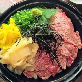 和牛炙り鉄火丼(肉バル 将泰庵)