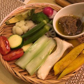 蒸し野菜のバーニャカウダ
