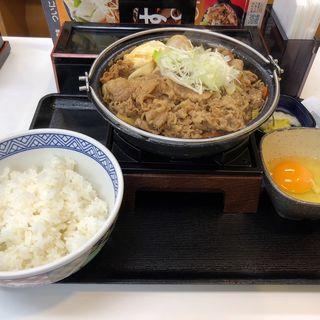 牛すき鍋膳肉2倍盛(吉野家 新4号線上三川店 )