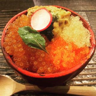 海の卵かけご飯(炉端のぬる燗 佐藤)