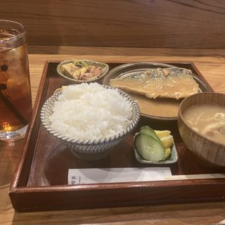 鯖の柚子味噌煮定食(食堂かど。)