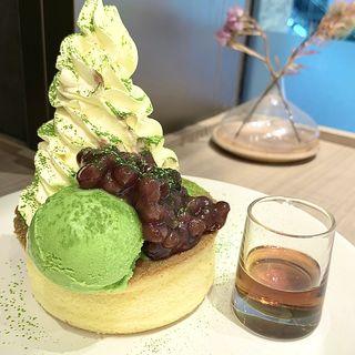抹茶あずきのスフレ(伊右衛門カフェ ルクアイーレ店)