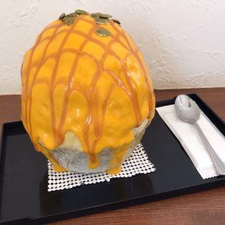 パンプキンクリームキャラメル(かき氷 はるかふぇ)