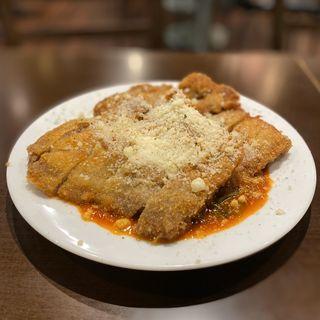 松阪豚ロースカツレツ ミラノ風パルメザンチーズトマトソース