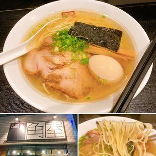 特製塩らぁ麺煮玉子入り(ラーメン角屋 )
