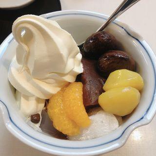 栗クリームあんみつ(みはし 上野本店 )