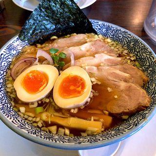 チャーシューそば+煮卵(麺屋 幸)
