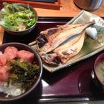 真あじ干物定食(日替り)(博多もつ鍋やまや 大崎ブライトタワー店 )