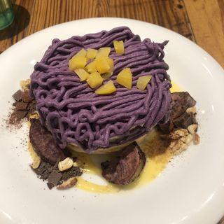 紫芋モンブランパンケーキ(ALOHA TABLE ペリエ千葉)