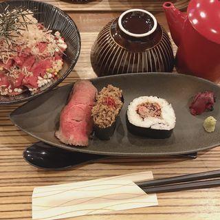 おすすめ定食(佰食屋肉寿司専科)