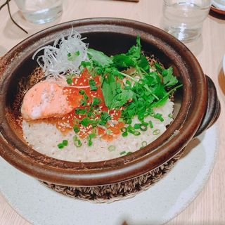 鮭といくらの土鍋ごはん(らかん・果)