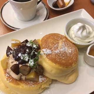 和栗エスプーマのホットケーキ(茶寮 煉 )