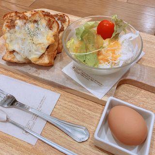 モーニング(キーマカレーチーズトーストセット)(上高地あずさ珈琲 伊川谷店)