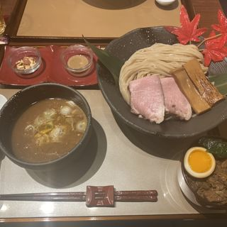 極太平打ち魚介濃厚つけ麺(麺 紡木)