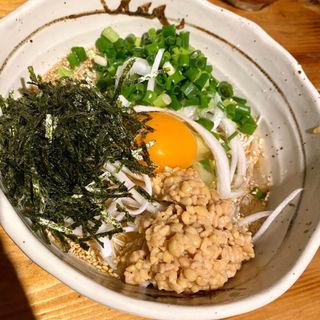 ソーメンサラダ(納豆)(地鶏ダイニング番長)