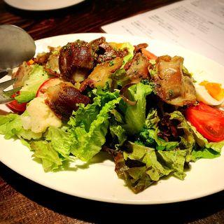 砂肝のコンフィのサラダ(デル・チャルロ (Del Chalro))