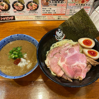 味玉肉増し鶏魚濃いつけ麺(兵庫縁乃助商店)