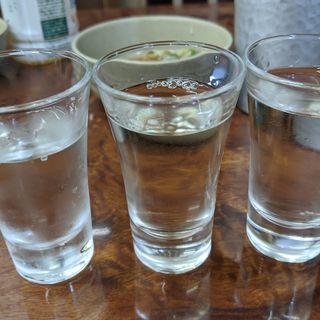 新政3種飲み比べ(永楽食堂 )