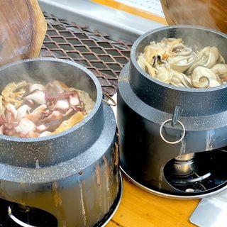 牡蠣の釜飯(海鮮問屋 城)