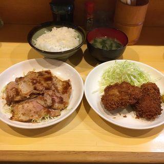 生姜焼き・ヒレカツランチ(きっちん 浜家 )