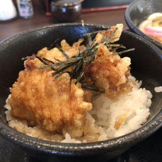 ミニかしわ天丼(ふじ家うどん)