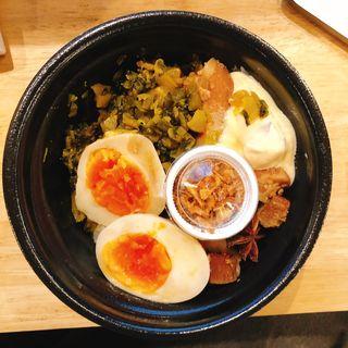 大盛りルーロー飯(台湾ルーロー飯 魯肉飯店 東日本橋店)