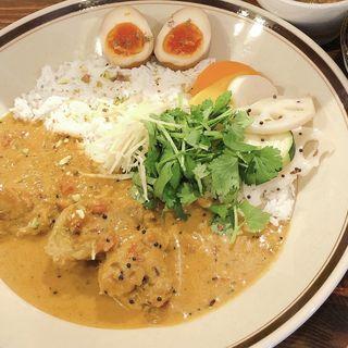 チキンカレー(ライス少なめ 味付け酢たまごトッピング)(プチシャニ)