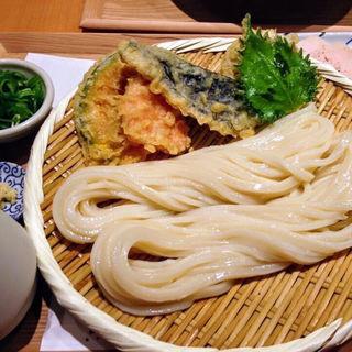 野菜天ざるうどん(切麦や甚六)