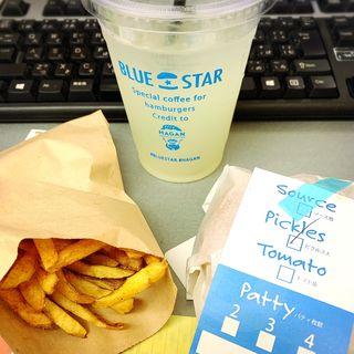 チーズバーガーセット(BLUE STAR BURGER 中目黒店)