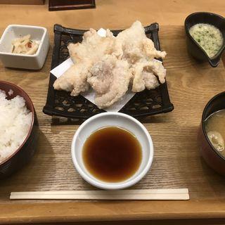 白い唐揚げ定食(鶏の宮川)