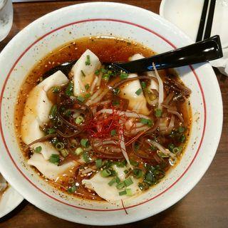 黒スープ餃子(香蘭)
