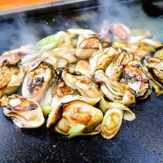 牡蠣とネギのバター焼き