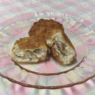 秋限定 松茸と鱧の クリームコロッケ