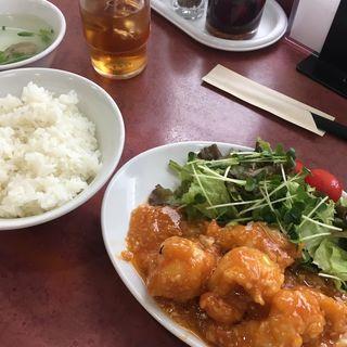 大エビチリソース(定食)(上海 (シャンハイ))