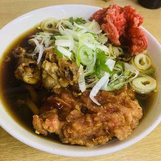 太蕎麦(げそ、舞茸、紅生姜)(一由そば )