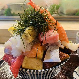 特上海鮮丼  ウニトッピング(江戸富士 )