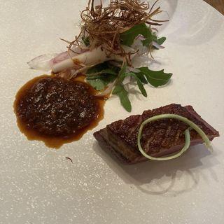 鴨胸肉のロースト ツナのソース