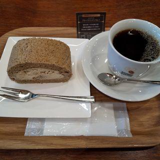 本日のシングルコーヒー(ロールケーキセット)(京都キョーワズ珈琲)