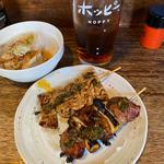 てっぽう と ねぎ油 味噌焼き(裏メニュー)