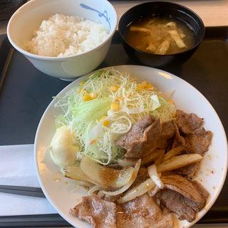豚肩ロースの生姜焼定食(松屋 国分寺西元町店 )