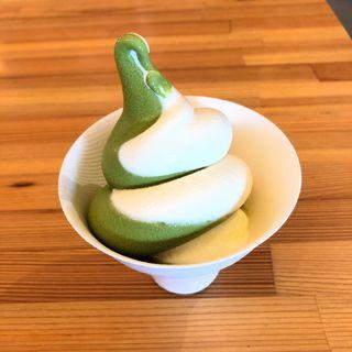 足柄茶&ミルクミックスソフトクリーム