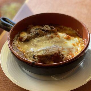 燻製硬質チーズとキノコの焼チーズカレー 大盛