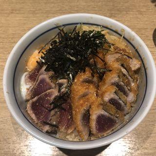 たたき・カツ ミックス丼