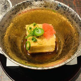 あん肝豆腐(京都 鰻 まえはら 虎ノ門ヒルズ店)