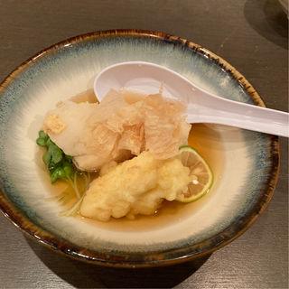 湯葉の天麩羅と揚げ出し豆腐(小粋なごはんと和のお酒 生粋)