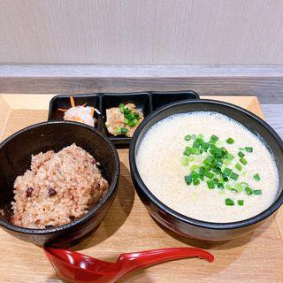 豆乳そうめんセット(寝かせ玄米と副菜3品付)
