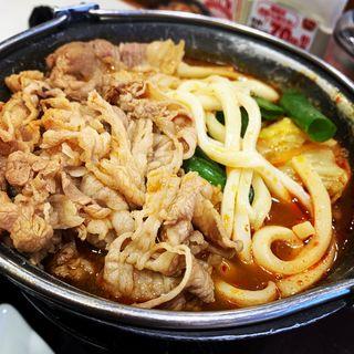 麻辣牛火鍋定食(並盛)