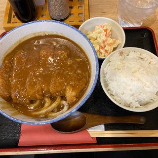 カツカレーうどん定食(うどん 讃く)
